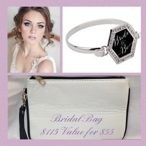 Other - Bride To Be Bag and Bracelet w/ Luxury Makeup Look